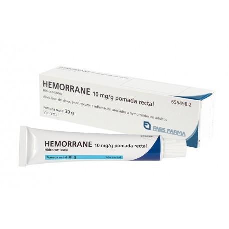 Hemorrane 10mg/g Pomada Rectal 30g