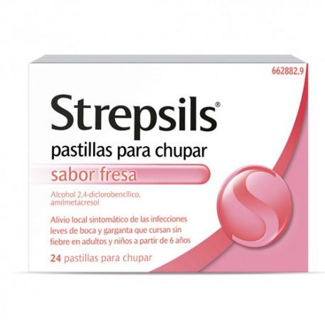 Strepsils Fresa 24 Pastillas