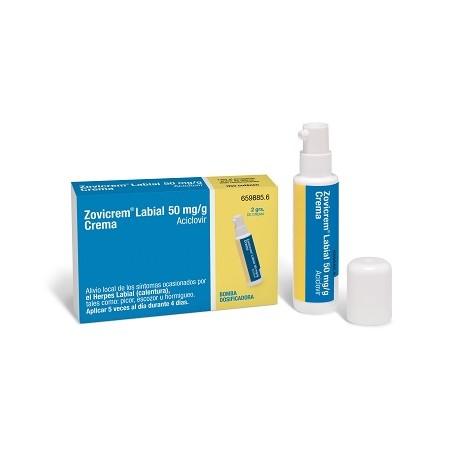 Zovicrem Labial 50 mg/g 2g con Bomba Dosificadora